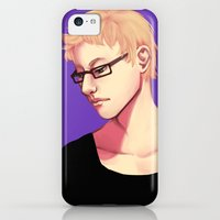iPhone 5c Cases featuring Tsukishima Kei by lyriumbrownies