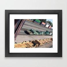 Laramie, WY Railroad Tracks Framed Art Print