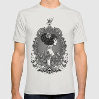 Menina Roza Mens Fitted Tee Silver SMALL