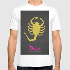 Drive - Minimalist Poster SMALL Mens Fitted Tee White