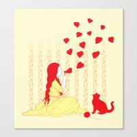 Bubbly Hearts Canvas Print