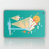 Laptop & iPad Skin featuring Mystery Island by Steven Toang