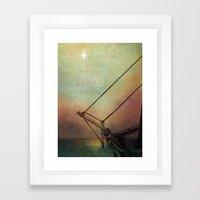 Gently Guided Ship Framed Art Print