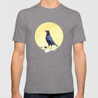 Crow Mens Fitted Tee Tri-Grey SMALL