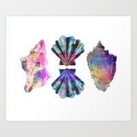 SEASHELL LOVE III Art Print