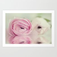 Ranunculus Mirrored Art Print