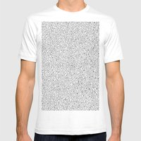 Cutlery Pattern Mens Fitted Tee White SMALL