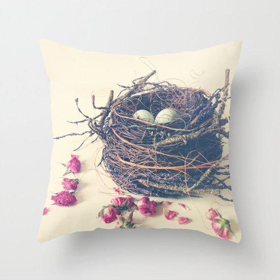 Jade Throw Pillows : Nest Throw Pillow by Olivia Joy StClaire Society6