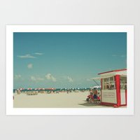 Miami Beach... Art Print