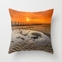 Blazing Sands Throw Pillow