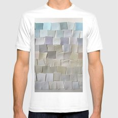 Winter Landscape White Mens Fitted Tee SMALL