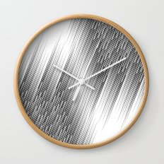 Diagonal lines Wall Clock