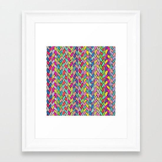 Rainbow Braids Framed Art Print