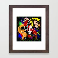 Bowie PopArt Metamorphos… Framed Art Print