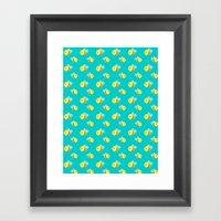 Bees - Pattern Framed Art Print
