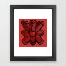 Meeting of Hearts - 3 Framed Art Print