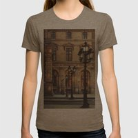 Paris lights Womens Fitted Tee Tri-Coffee SMALL