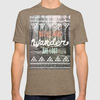 Wander Mens Fitted Tee Tri-Coffee SMALL