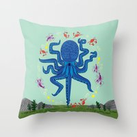 Otto Learns How To Juggl… Throw Pillow