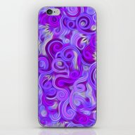 iPhone & iPod Skin featuring Lavender Swirls Abstract by Kirsten Star