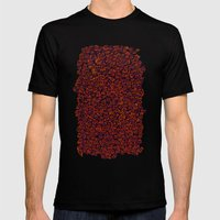 Mini monster doodle Mens Fitted Tee Black SMALL