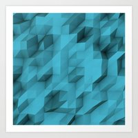 low poly texture Art Print