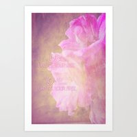 Live And Love Art Print
