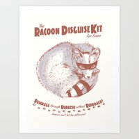 The Raccoon Disguise Kit… Art Print