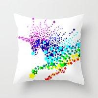 Unicorn - Licorne - Unic… Throw Pillow