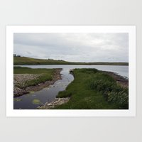 The Loch of Vatsetter Art Print