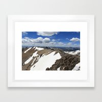 Mt Democrat Framed Art Print