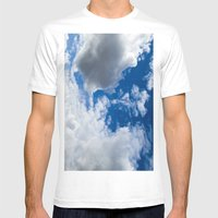 Clouds From Space Mens Fitted Tee White SMALL