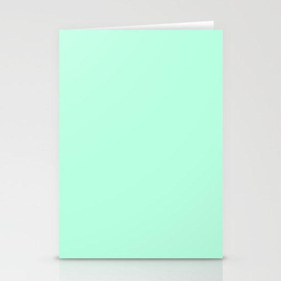 SOLID MINT Stationery Card