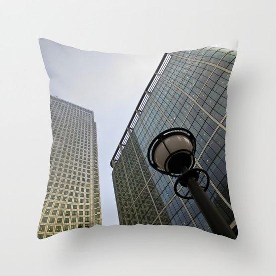 Canary Wharf  Throw Pillow