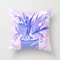 plant smell Throw Pillow