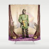 General Simian of the Glorious Banana Republic Shower Curtain