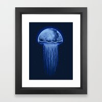 Moon Jellyfish Framed Art Print