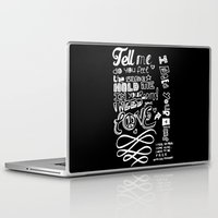 lyrics Laptop & iPad Skins featuring Lettering Lyrics by Insait disseny