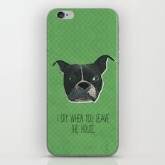 Boston Terrier Print iPhone & iPod Skin