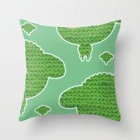 Wooly Sheep - 2 Throw Pillow