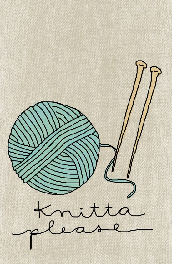 Knitta Please Art Print