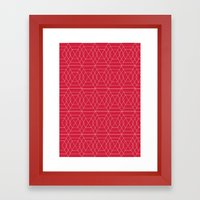 giving hearts giving hope: red hex Framed Art Print