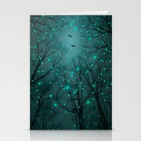 star Stationery Cards featuring Silently, One by One, the Infinite Stars Blossomed (Geometric Stars Remix) by soaring anchor designs