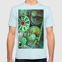 COMPLICATED TEXTURES Mens Fitted Tee Light Blue SMALL