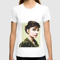 audrey hepburn T-shirts featuring Audrey Hepburn by Sophie Eves