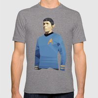 Polygon Heroes - Spock Mens Fitted Tee Tri-Grey SMALL