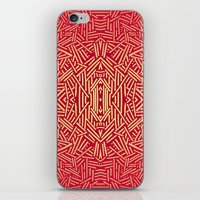 Radiate (Red Yellow Ochr… iPhone & iPod Skin