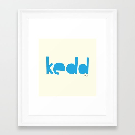 days | kedd Framed Art Print