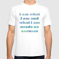 I Am What I Am Mens Fitted Tee White SMALL