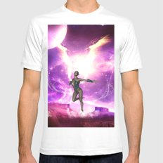 Fairy With Water Wings Mens Fitted Tee White SMALL